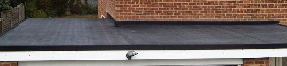 Black rubber roofing